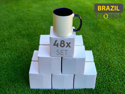 48 AA Two Tone Color Dark Blue Sublimation Mugs 11oz with Individual Boxes