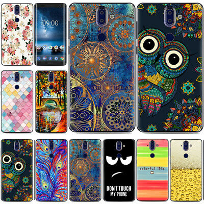 For Nokia 8 Sirocco 7 Plus 3.1 6 7 8 Painted Shockproof Soft TPU Back Case Cover
