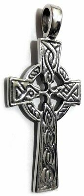 Celtic Irish Pendant Necklace Traditional Celtic Cross Knot Stainless Steel