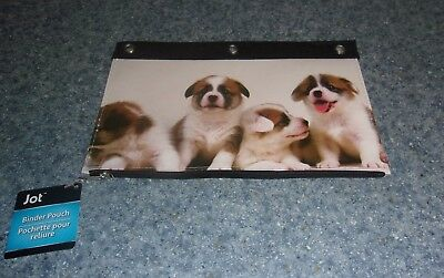 Brand New Corgi Puppies Design Pencil Binder Pouch For Dog Rescue Charity