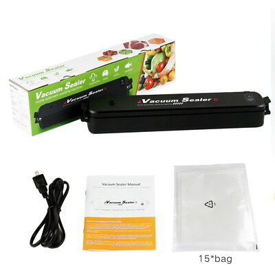 Food Vacuum Sealer Machine Portable Packing Air Sealing System 15 Sealing Bags