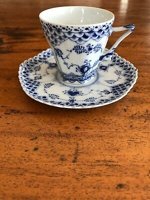 """Royal Copenhagen, Blue Fluted Lace, 5 Cups 14cl, nº 1/1036 """"ONLY CUPS"""""""