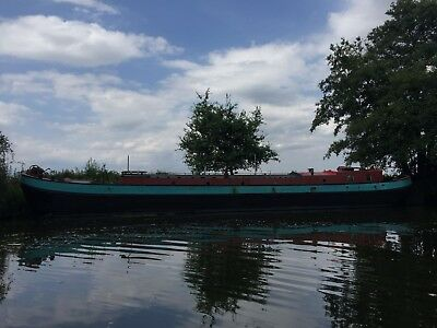 Dutch barge on beautiful Medway mooring