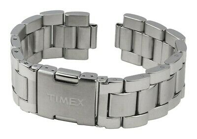 Timex Spare Band Stainless Steel Silver High Gloss/Matte for T2N944 T2N942