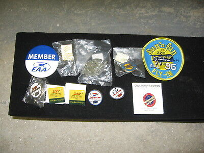 EAA pins and 1 patch