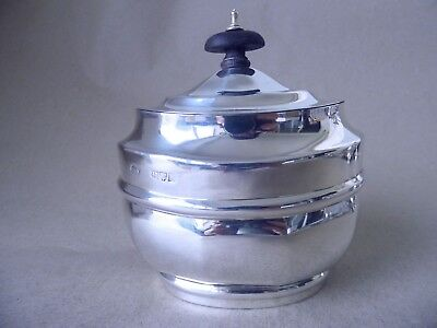 Chester Excellent Victorian Sterling Silver Tea Caddy 1900