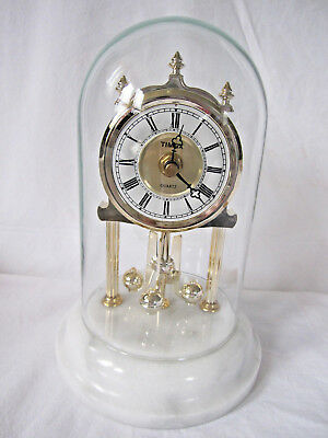Timex Anniversary Clock With Marble Base & Glass Dome - Quartz - 8 in.