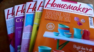 5 Homemaker Magazines Bundle /joblot, making, Interior, stitching, baking, knit