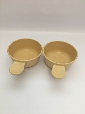 Vintage RegalWare Microwave Cook & Serve 2 Cups Pan Soup Bowls w/ Handles 500ml