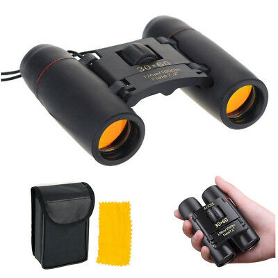 Binoculars Foldable 30 x 60 Zoom Mini Compact Roof Prism Day Vision Telescope