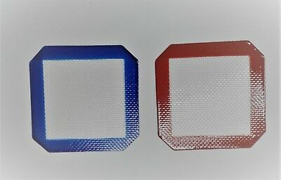 """Non Stick Silicone Dab Mat Pad Sheet 3.75"""" x 3.75"""" (Pack of 2)"""