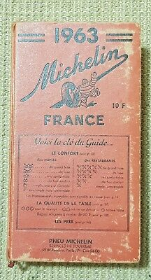 Guide Michelin Rouge France 1963