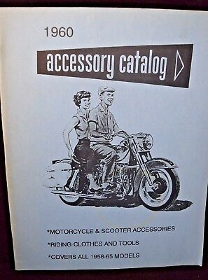 Vintage Harley Davidson 1960 Accessory Catalog  co.1989