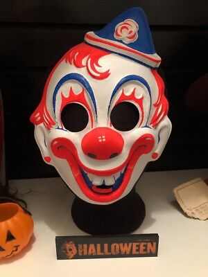 Rob Zombie Halloween Clown Mask.Vintage Collegeville Clown Mask Rob Zombie Michael Myers Halloween Costume Post