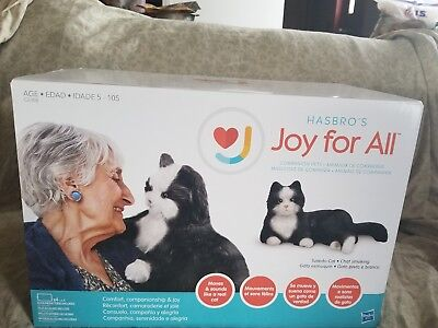 Hasbro Joy For All Black And White Cat