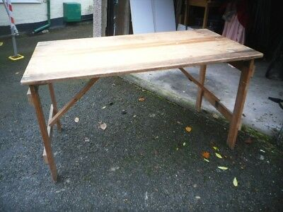 Wooden Tressel Table