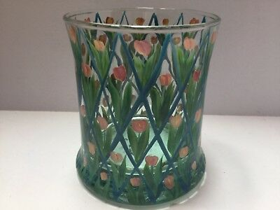 MacKenzie-Childs Old Fashioned Glass Pink Tulips