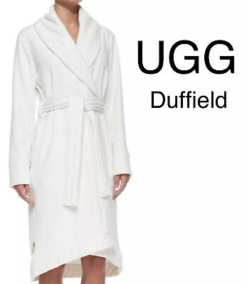 UGG Australia Womens DUFFIELD shawl Collar Wrap Robe  UA4101W Cream  125  XLARGE f48caedf5