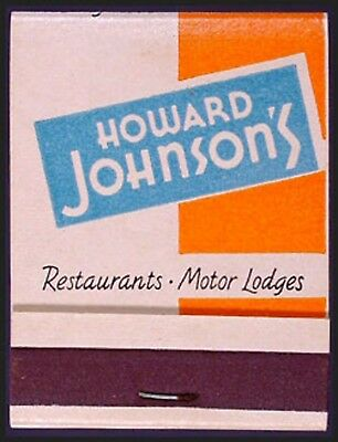 NEAR CADDY MINT 1950s Howard Johnson's Restaurants 20s Full Match Book - Generic