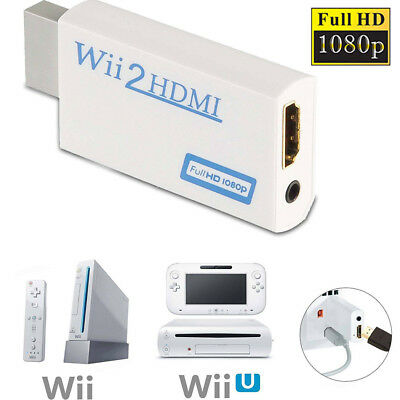Wii to 2 HDMI Wii2hdmi Full HD 720P 1080P TV HDTV Converter Upscaling Adapter