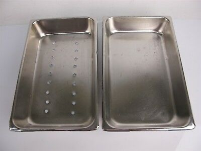 Vollrath 7414-2 Surgical SS Instrument Tray 12.25x7.75x2.25 Inch - Lot of 2