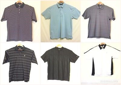 Mixed Lot of 6 Mens XL Golf Shirts S/S Nike FootJoy Under Armour