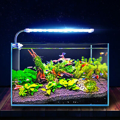 16/23/31CM Aquarium LED Light Fish Tank Aqua Plant Lamp Arm Clip-on Lighting AU