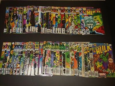 Huge Lot of 76 The Incredible Hulk comic 202-434 VF+ READ!!!!- Condition!! RARE!