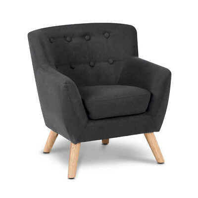 Kids Fabric Accent Arm Chair - Black