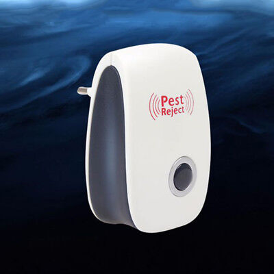 4× Ultrasonic Plug In Pest Repeller & Night Light Mouse Mice Rat Spider Insects