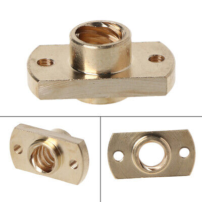 T8 nut Pitch 2mm Lead 8mm Brass T8x8mm Flange Lead Screw Nut for CNC Parts Hot