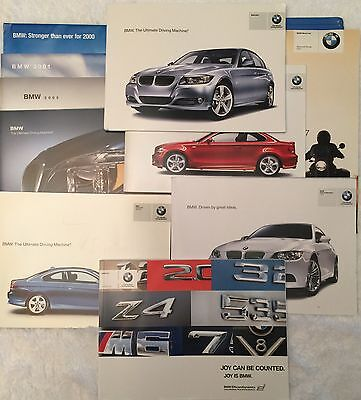 11 BMW car brochures 2000-2011