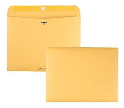 Quality Park Redi File Clasp Envelope, 12 x 9, Brown Kraft, 100/Box (38090)