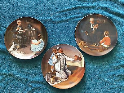 Norman Rockwell - Set of 3 Collector Plates