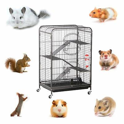 "4 Levels Ferret Cage Rabbit Guinea Pig Chinchilla Rat Small Animal House 37"" NEW"