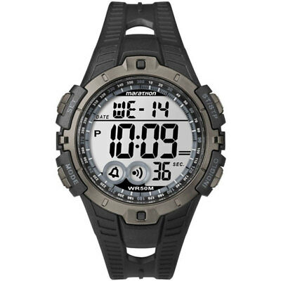 Timex Mens Marathon Full-Size Digital Wrist Watch - Black/Grey New T5K802