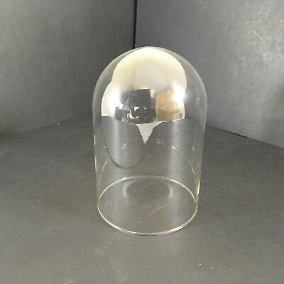 Small Glass Dome Victorian Ideal For Clocks Or Taxidermy 6 Inches Tall