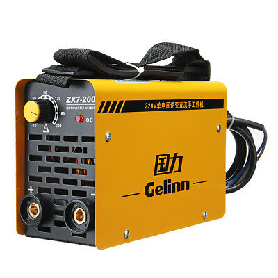 ZX7-200 Mini MMA ARC Welder DC IGBT Welding Machine Solder Inverter 220V