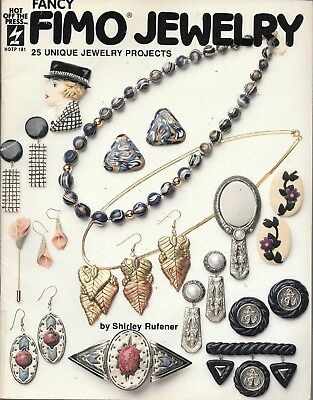 Fancy FIMO Jewelry jewellery making book 25 unique projects vintage 1992 PB VGUC