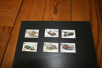 1999 Jersey Post MNH Stamps Set of 6 Vintage Cars III Face Value £2.20
