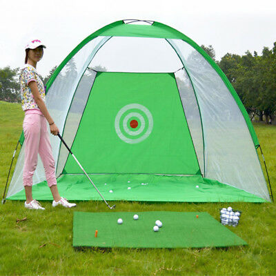 """Outdoor Foldable Golf Hitting Cage Practice Net With Training Aid POP"""""""