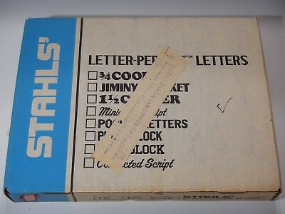 "Stahls' Letter-Perfect Heat Press Letters Red (1.5"" Cooper) New Old Stock"