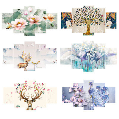HD Art Canvas Print Home Wall 5pcs Picture Poster Paintings Home Office Decor