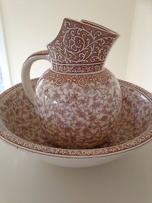 Wash Bowl and Jug, very pretty and unusual by Royal Doulton