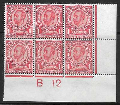 Sg 345 1d Carmine Downey Head Die 2 Control B 12(w) perf 2 MOUNTED MINT to top