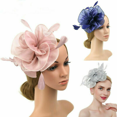 Large Flower Fascinator Headband Hair Accessories Ladies Day Races Royal Ascot