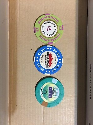 Casino Chip Lot 3 Different Chips From 3 Different Casinos.