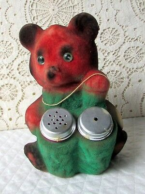Vintage Mid-Century Bear with Salt and Pepper Shakers, Smoky Mtns. - Now 50% Off