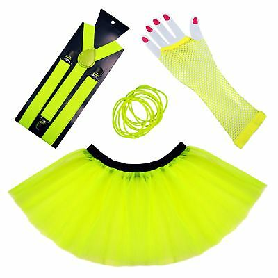 Hen Night Stag Do 80s Rave Neon Night Party Set Neon Yellow