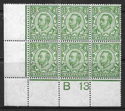 Sg 344 ½d Green Downey Head control B13 perf 2A UNMOUNTED MINT